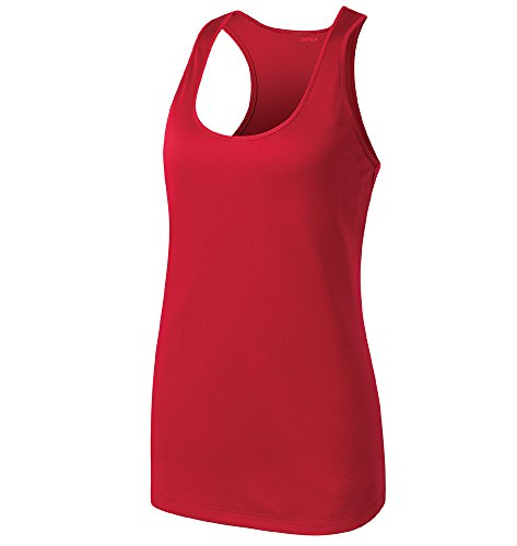 Opna Racerback Tank Tops for Women Moisture Wicking Workout Shirt Sizes XS-4XL RED-XS