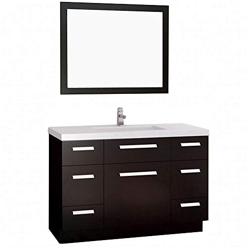 Espresso Finish Vanity - Design Element Moscony Single Sink Vanity Set with Espresso Finish, 48-Inch