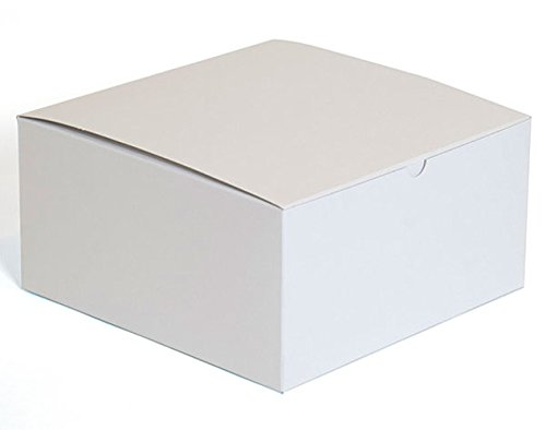 Box of 50 New or Retail White finish Gift box measures 10''x10''x5'' by Gift box
