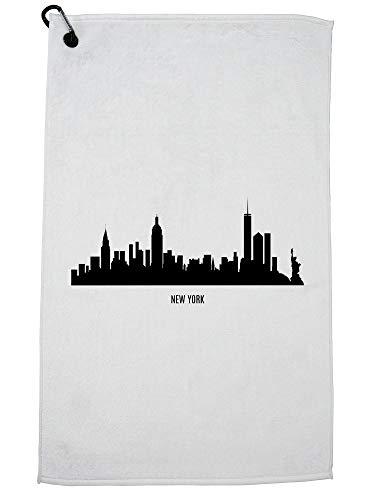 Hollywood Thread New York City Skyline - NY - New York Big Apple Golf Towel Carabiner Clip