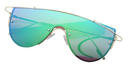 Tide para Frame mujer de Gafas Green Gafas uso Gafas de ultravioleta polarizadas sol Gold sol Anti de Aviador y JYR personal hombre para wanCq4t
