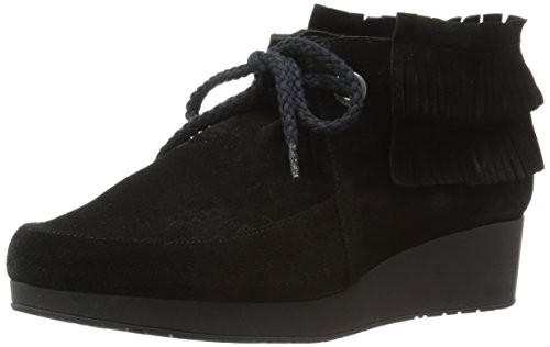 Robert Clergerie Women's Naim Chukka Boot, Black, 39 EU/8.5 B US