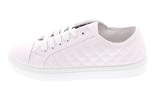 Gold Toe Womens Classic Lace Up Low Top Fashion Walking Sneaker Casual Sporty Athletic Style Street Shoe White GEHg5FIFr