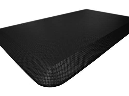 "Sky Mat, Comfort Anti Fatigue Mat, Perfect for Kitchens and Standing Desks, 5 Colors, 3 sizes, 20 x 32 x 3/4"" (Black)"