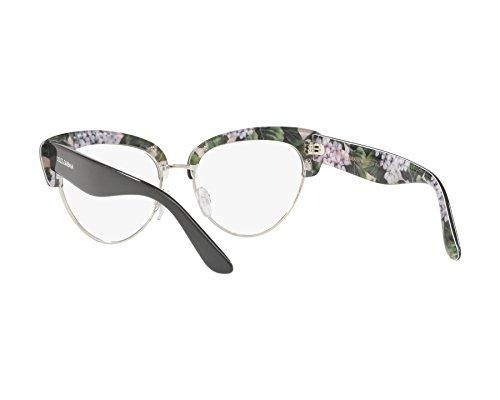dab348c0ed3374 ... Dolce   Gabbana - Monture de lunettes - Femme Gris dunkel grau -  bedruckt grün 53