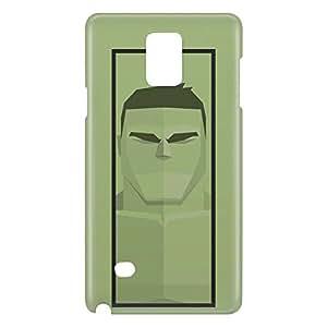 Loud Universe Galaxy Note 5 Hulk Triangular Print 3D Wrap Around Case - Green