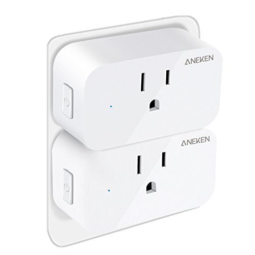 Smart Plug Wifi Mini Outlets Aneken Smart Socket Compatible with Amazon Alexa and Google Assistant No Hub Required Timing Function Control Your Home Devices from Anywhere