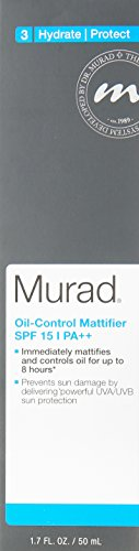 Murad Oil-Control Mattifier with SPF 15 PA – 1.7 fl oz , Provides a Long Lasting Matte Finish, Reduces Shine and Can Control Oil for Up To 8 Hours, Regulating Oil Production and Preserving Moisture
