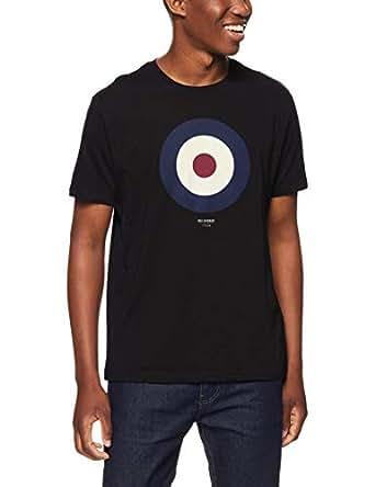Ben Sherman Men's The Iconic Target Print T-Shirt, Black (True Black), Small