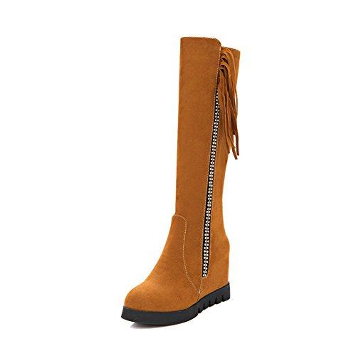 BalaMasa Diamond Tassels Glass Platform Womens Brown Frosted Boots 8rqO8