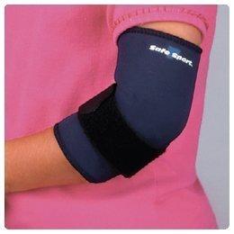 (Alimed Safe-T-Sport Neoprene Tennis Elbow Sleeve, Small, Navy, Fits : 7 - 9