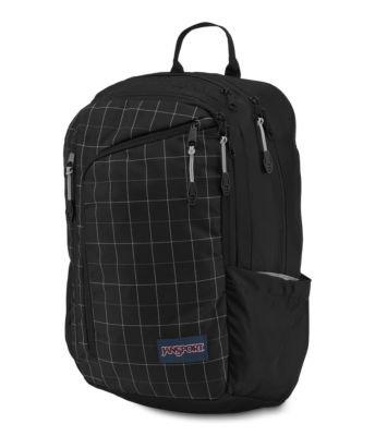JanSport Platform Laptop Backpack - Black Reflective Grid