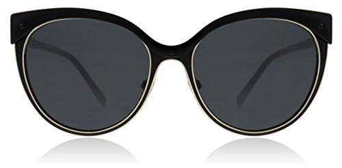 Burberry Cat Eye Sunglasses - Burberry Women's 0BE3096 Black/Light Gold/Grey One