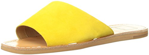 Dolce Vita Womens Cato Slide Sandal  Yellow Suede  7 5 M Us