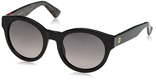Gucci Women's Designer Sunglasses, Black/Green Red