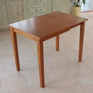 伸長式ダイニングテーブル 『ピッコロ』 折りたたみ/ライトブラウン