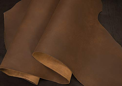 (Matte Chrome Tanned Water Buffalo Leather, 5-6 oz. Bark Brown)