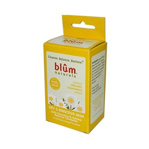 Blum Naturals Dry and Sensitive Skin Daily Cleansing and Makeup Remover Towelettes -- 10 Towelettes
