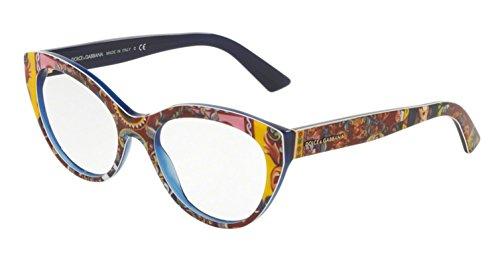 ef89c76753 Dolce & Gabbana Montures de lunettes 3246 Pour Femme Rose Print / Black,  51mm Multicolore