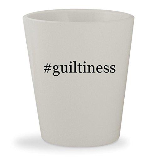 #guiltiness - White Hashtag Ceramic 1.5oz Shot Glass