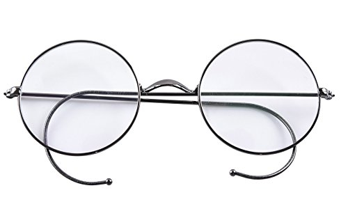 Agstum Retro Round Optical Rare Wire Rim Eyeglass Frame (Without Nose Pads) (Gunmetal, ()