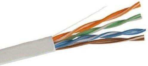 1000 Ft Bulk CAT5E 24 AWG UTP Twist Pair Solid Network Ethernet Cable White