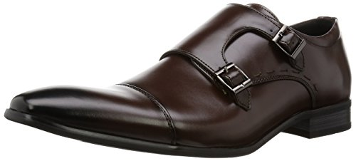 Scarpe Monkstrap Uomo Mm / One Mens Oxford Kingsize Scarpe Solette In Memory Foam Di Grande Dimensione Nero Marrone Scuro Marrone Scuro