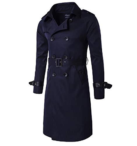 Di Blu Outwear Polvere Rivolgono Navy Doppiopetto Cappotto uomini Collare Si giù Il Howme pP1Ywxq
