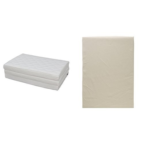 【セット買い】アイリスオーヤマ エアリーマットレス ハイグレード 厚み9cm シングル ホワイト HG90-S + ボックスシーツ  日本製 綿100% ブロード生地 通気性 シングル バニラベージュ B0751K18W8