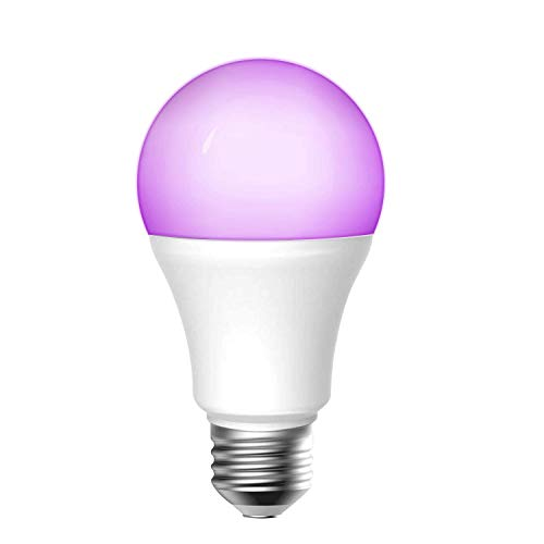 meross Smart Wi-Fi LED Bulb with Color Changing, E26 Dimmable Light, APP Remote Control, Compatible with Alexa, Google Home and IFTTT, 700 Lumens 9 W, No Hub Required - MSL120