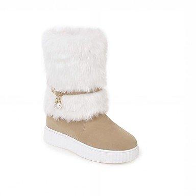RTRY Zapatos De Mujer Polipiel Primavera Moda Invierno Botas Botas De Tacón Cuña Round Toe Botines/Botines Rhinestone Para Oficina Informal &Amp; Carrera US6.5-7 / EU37 / UK4.5-5 / CN37