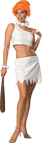 Rubies Womens Wilma Flintstone Cave Girl Halloween Themed Party Fancy Costume, M (10-12)
