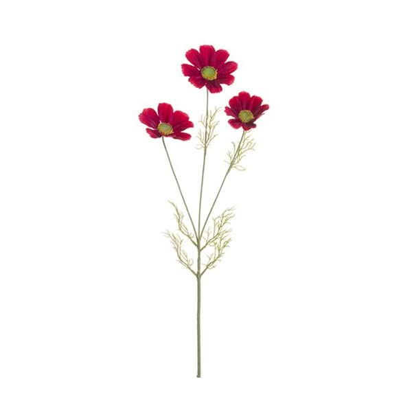30″ Silk Cosmos Flower Spray -Burgundy (Pack of 12)