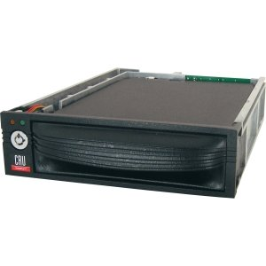 CRU 8440-6502-0500 DP10 1DRIVE REMOVABLE 5.25IN PERP BAY 3.5IN SAS SATA 6GB/S BLACK by CRU