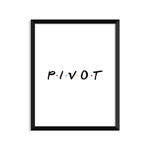 Pivot, Tv Show, Tv Show Poster, Minimalist Poster, Home Decor, College Dorm Room Decorations, Wall Art