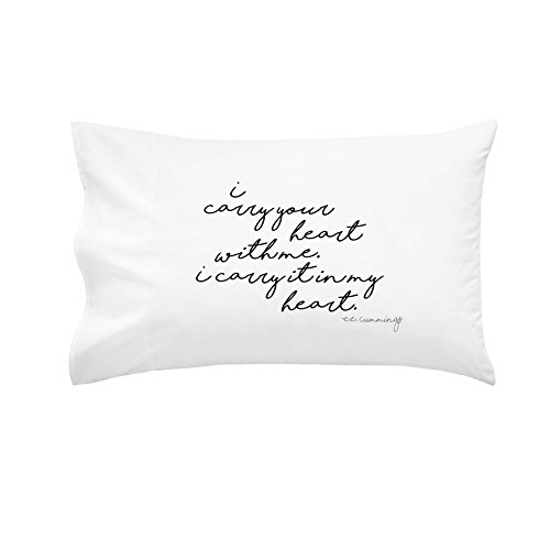 [OH, SUSANNAH I Carry Your Heart With Me. I Carry It In My Heart Pillowcase - BLACK - 1 20x30