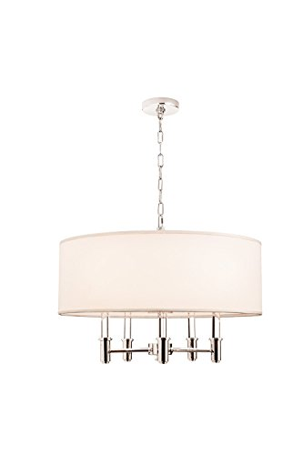Kalco Lighting 500572CH 5 Light Round Pendant/Semi Flush