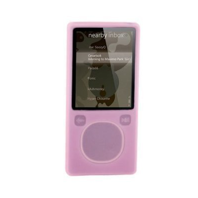 MICROSOFT ZUNE 4GB/8GB PINK Premium Silicone Skin Protective Silicon Cover Case With Armband And LCD