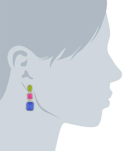 """Carolee """"Fruit Punch"""" Triple Drop Clip-On Earrings"""