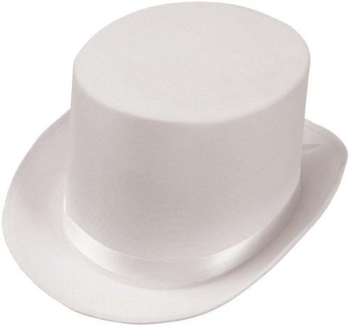 Satin (White) Adult Top Hat (One Size Fits Most Adults) [Apparel]