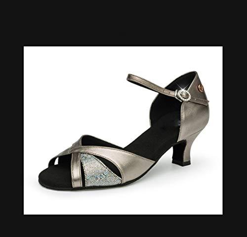 Zapatos Adulto Tacón Mujer Baile Salón Salón Bajo De Latino Zapatos Ancient x1qnOwtw