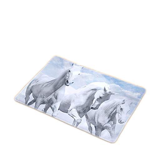 (uanfuyicen New Welcome Mats 9s Tyles Horse Print Doormats Bathroom Kitchen Carpet Home Floor Mats Living Room Anti-Slip Rug 40x60)