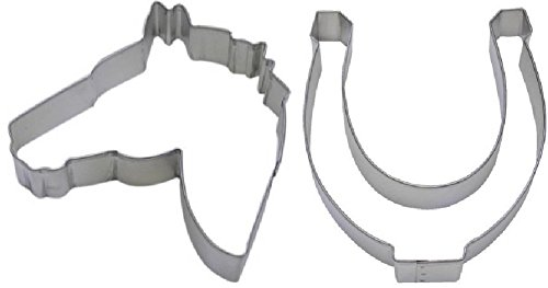 Bake Cookies 2 Piece Horse Head & Horseshoe Cookie Cutter Set Baking Tools