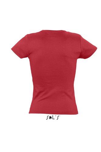 Sols - Organic women - Damen T-Shirt aus 100% Bio-Baumwolle , Red , XL