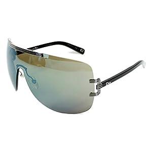Dior xmd-3u Dark Ruthenium and Black Graphix 1 Visor Sunglasses Lens Mirrored