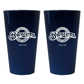 (Milwaukee Brewers Lusterware Pint Glass - Set Of 2)