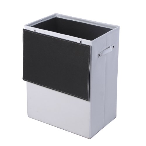Songmics Faltbar Wäschekörbe große Wäschebox Kunstleder weiß RSY90W