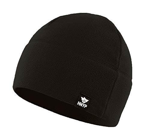 (Home Prefer Winter Outdoor Skull Cap Simple Solid Daily Watch Hat Fleece Beanie Cap for Men,)