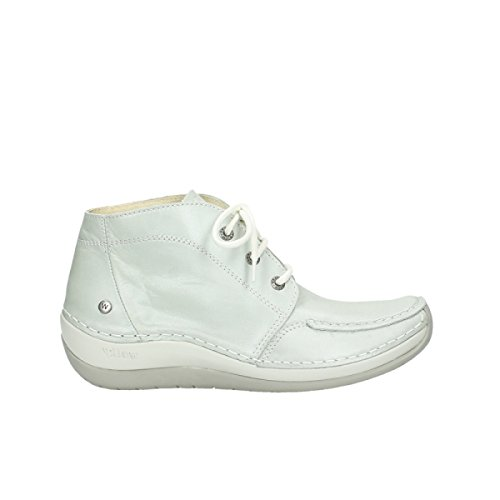 Wolky Lace Leather Up Olympia Boots Comfort Offwhite 80120 xqxwrA85