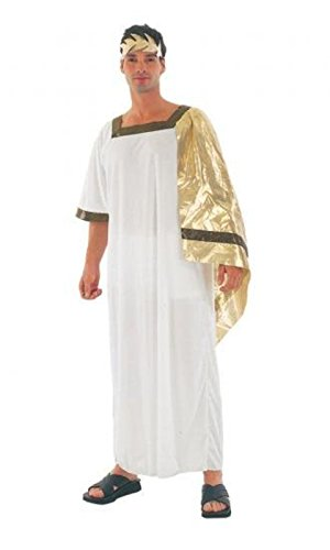 [Adults Romans Toga Fancy Dress Party Ancient Times Costume Male Greek God Dress] (Toga Party Male Costume)